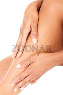 Female legs. Closeup.Bodypart.