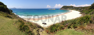 Boat Beach Seal Rocks Panorama NSW Australia