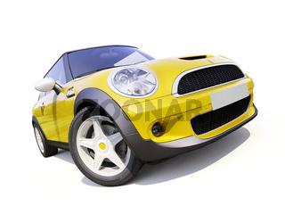 Modern compact city car