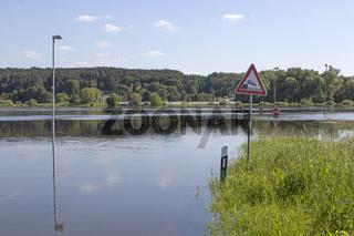 Hochwasser an der Elbe bei Dömitz, 2013, Deutschland, Europa
