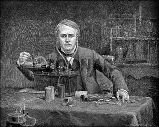 Thomas Alva Edison, 1847 - 1931, an American inventor and businessman