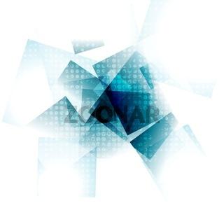 Blue grunge geometric vector design