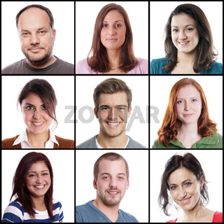 caucasian women and men ranging from 18 to 45 years