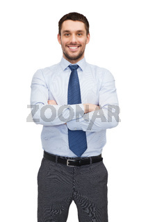 handsome buisnessman with crossed arms