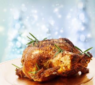 Roasted Whole Chicken with Rosemary