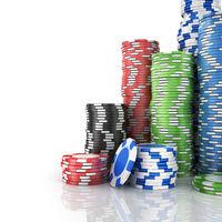 Stacks of poker chips.