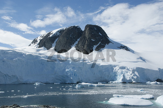 Mountain peak in Antarctica.