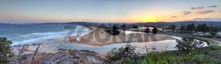 North Narrabeen beach and lakes entrance views Australia