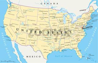Vereinigte Staaten von Amerika Landkarte