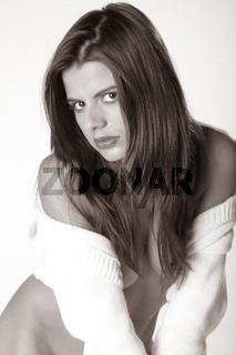Aktfoto einer jungen Frau