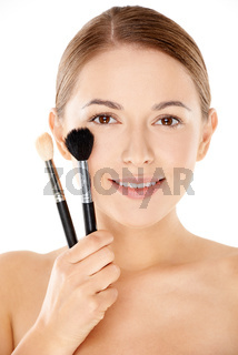 Young woman with a flawless complexion