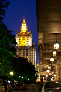 Russia-05.23.2014, Moscow, Ministry of Foreign Affairs in the night