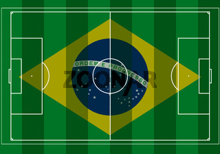 Brazil 2014 Soccer game field