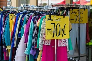 Schlussverkauf in der Textilbranche
