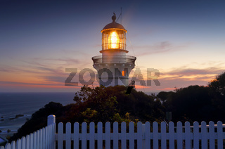 Sugarloaf Point  Lighthouse at sundown