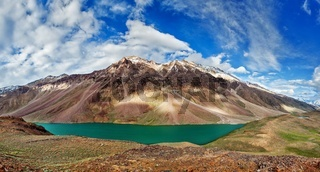 Chandra Tal lake in Himalayas