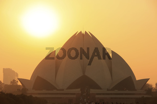 Lotus Temple at sunset, New Delhi