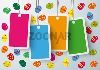 Four Colored Price Sticker Easter Eggs PiAd