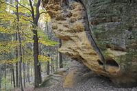 Felsen an der Diebeshöhle bei Thürmsdorf