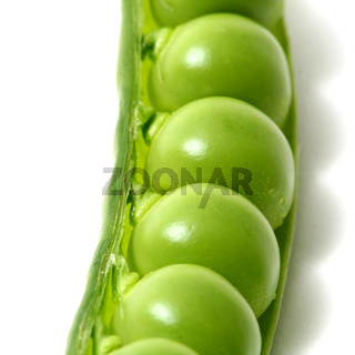 peas isoladed on white macro close up