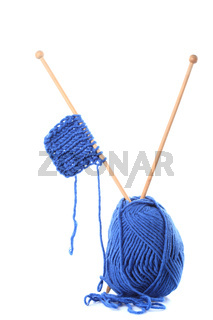 Knitting isolated