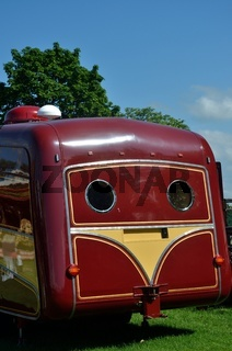 Rear of large caravan