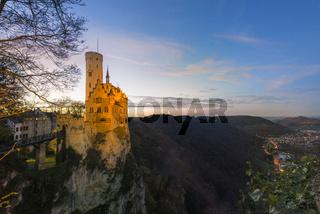Schloss Lichtenstein zur blauen Stunde