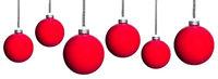 viele rote Weihnachtsbaumkugeln