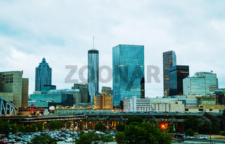 Downtown Atlanta in the evening