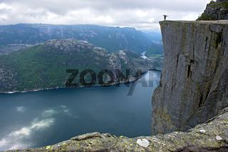 Preikestolen, Felskanzel am Lysefjord,Norwegen