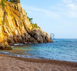 Tossa de Mar, Catalonia, Spain, a small beach near Cap de Tossa