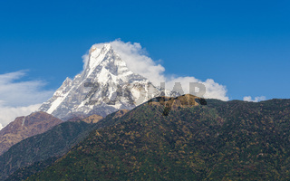 The Machapuchre in Nepal