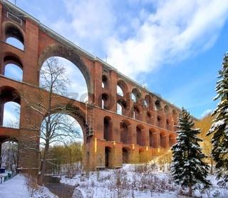 Göltzschtalbrücke winter - Goltzsch valley bridge in winter 01