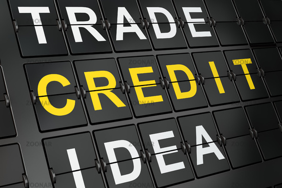 Business concept: Credit on airport board background