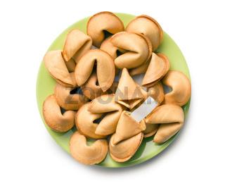 furtune cookie on plate
