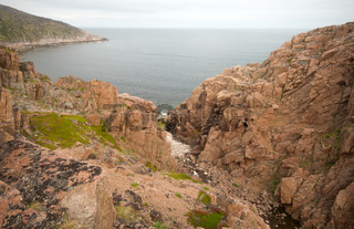 Barents Sea view from rocks summer