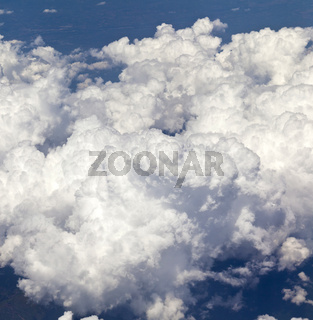 Above dense cloudscape