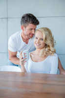 Young White Couple in Coffee Time Photo Shoot