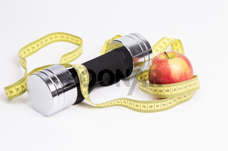 Hantel Apfel Massband