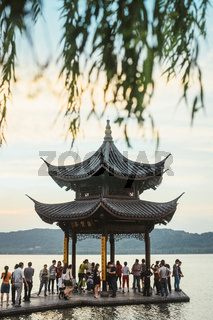 Pavillion in Hangzhou west lake