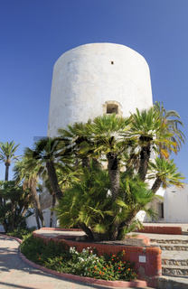 Tower landmark of Cabo Roig