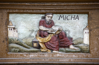 The prophet Micah or Mikayahu, Alfeld, Old Latin School, Germany