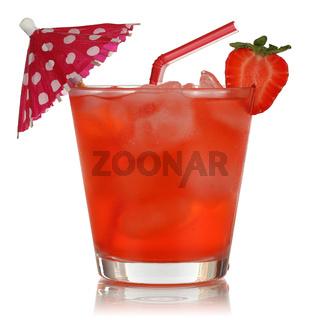 Erdbeeren Früchte Drink freigestellt