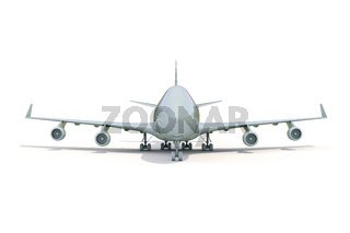 Plane on white
