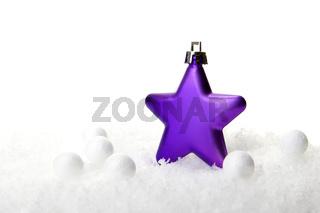 Weihnachten, Weihnachtskugel lila
