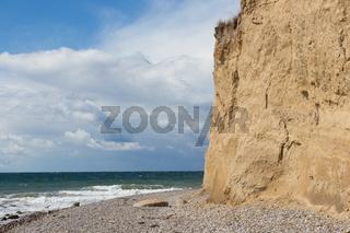 Steilküste und Stein