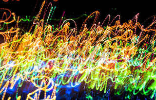 Abstract multicolored blurred lights background