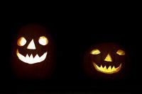 Halloween Kürbiskopf Paar