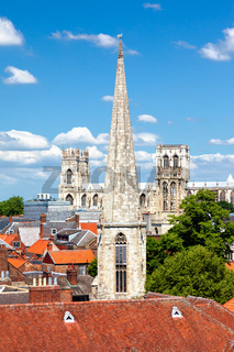 Cityscape of York, a town in North Yorkshire, England