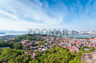 bird's eye view of gulangyu island